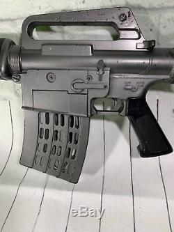Vintage 1966 MATTEL M-16 MARAUDER Toy Gun Full Auto Rifle