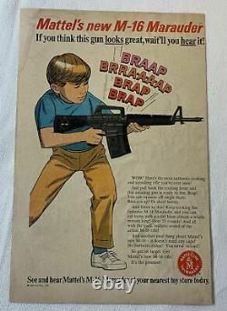 Vintage 1966 Mattel M-16 Marauder Automatic Rifle Toy Gun Works Superbly