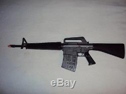 Vintage 1966 Mattel M-16 Marauder Toy Machine Gun, Sounds Great