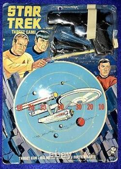 Vintage 1967 STAR TREK Tin Target Game TOY GUN Original Series HASBRO Dart METAL