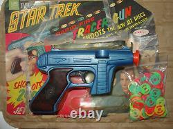 Vintage 60's Rayline Star Trek Toy Tracer Disc Gun & 100 Star Trek Jet Disks