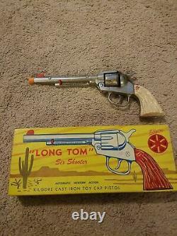 Vintage Antique 1940s Kilgore Long Tom Toy Replica Iron Cap Gun