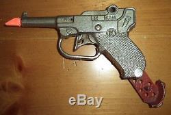 Vintage Antique KILGORE G-MAN Nickel Plated 1930s TOY Cap Gun Pistol EXC WOW