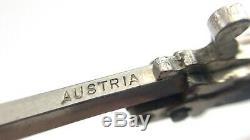 Vintage Austria Miniature Pinfire Cap Gun Rifle Bayonette Chain Sling Metal J553