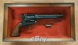 Vintage Black NICHOLS STALLION 45 mark 11 CAP GUN in display case BEAUTIFUL