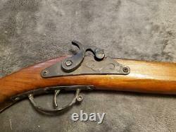 Vintage Black Powder Flintlock Style Wooden Toy Cap Gun Pistol Musket 1940's