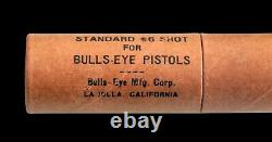 Vintage Black Version Circa 1937 Bulls Eye SHARP SHOOTER Gun Pistol Metal Box