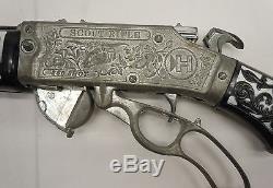 Vintage Black White Hubley Scout Cap Gun Rifle