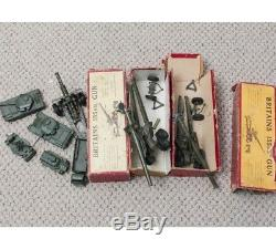 Vintage Britains American 155mm Field Gun x2 Military Toy & 5 Dinky Brand Toys