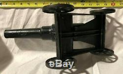 Vintage Cast Iron Big Bang Toy Cannon 10W Heavy Artillery Gun