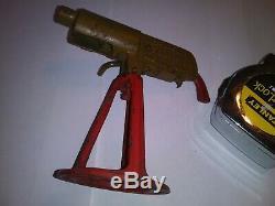 Vintage Cast Toy Grey Iron Anti-Aircraft Rapid Fire Machine Cap Gun