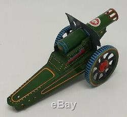 Vintage China Can Co. Hong Kong Tin toy wind-up Field Gun