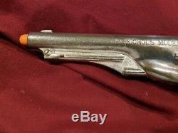 Vintage Chrome Nichols Model 61 Cap Gun Nice Gun & Operates Properly