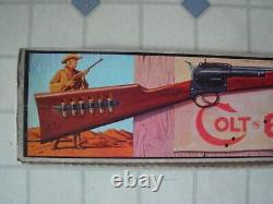 Vintage Colt 6 Shooter MATTEL TOY in VG Box Cap Gun Plastic Rifle Gun