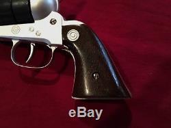 Vintage Daisy 44 Cap & Ball, Nichols Cap Gun VERY RARE Silver & Blue Nice