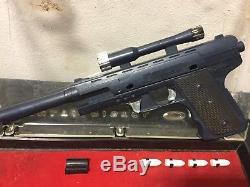 Vintage Deluxe Reading Corporation Multi-pistol Fake Gun Set Toy Kit #F4