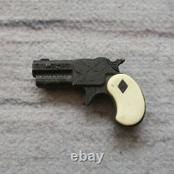 Vintage Derringer Miniature Gun Toy Cap Engraved Nichols Early