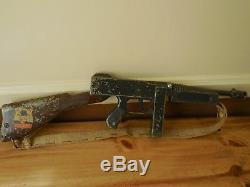 Vintage Dick Tracy Toy The Only Authorized Rapid Fire Tommy Gun