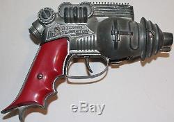 Vintage Diecast Hubley Atomic Disintegrator Ray Gun, Space Toy Cap Pistol