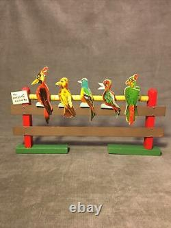Vintage Early Parker Bros The Five Wise Birds Game with Original Toy Cork Gun