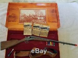 Vintage Edison Giocatti Monte Carlo Double Barrel Cap Gun With Extra Ammo Cal 12