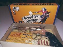 Vintage Frontier Smoker Toy Cap Gun 1950s in Original Package