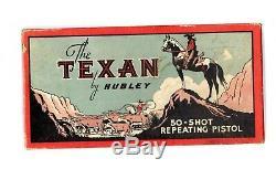 Vintage HUBLEY Texan 50 Shot Colt Toy 9 in Cap Gun w Box