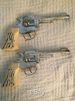 Vintage Halco Wells Fargo Pony Express Holster Outfit with pair Buffalo Bill Guns