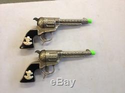 Vintage Hopalong Cassidy & Rare Holster Toy Cap Gun Pistols! Nice