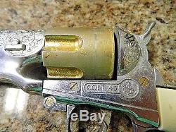Vintage Hubley Colt 45 Cap Gun, With 4 Original Cap Bullets
