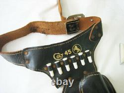 Vintage Hubley Colt 45 Cap Gun and holster -super great shape