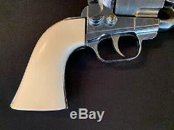 Vintage Hubley Colt 45 Toy Cap Gun. 45 Gold Cylinder Very Nice