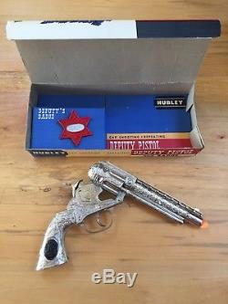 Vintage Hubley Deputy and Badge Cap Gun Mint in Box Cap Pistol Toy Antique