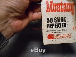 Vintage Hubley Mustang 50 Shot Repeater Cap Gun New on Card