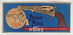 Vintage Hubley Pioneer Toy Pistol Cap Gun In Box