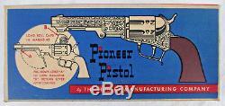 Vintage Hubley Pioneer Toy Pistol Cap Gun In Box Unused/old Store Stock