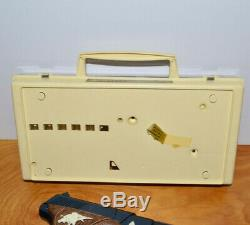 Vintage JOHNNY EAGLE MAGUMBA Cap Gun Toy Pistol Bullets Clips Case Lot TOPPER