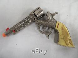 Vintage Kilgore American Cast Iron Cap Pistol Gun c. 1940's C606