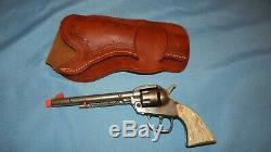Vintage Kilgore Long Tom Cap Gun Cast Iron Nice Replica withHolster