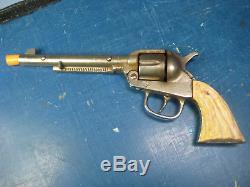 Vintage Kilgore Long Tom Cap Gun, Cast Iron, Rotating Cylinder, Nice Replica