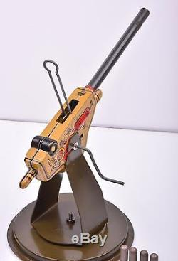 Vintage LOUIS MARX ANTI-AIRCRAFT GUN 105 mm with BOX MINT