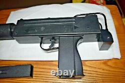 Vintage Larami Mac-11 Cap Gun Machine Pistol Mint Motorized withSuppressor Rare