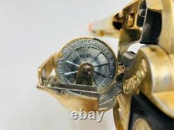 Vintage Large 12 Gold Cap Gun Pistol Hubley Cowboy 1950's Toy Revolver M21
