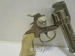 Vintage Leslie Henry Gene Autry Cap Gun With Rare Notch Bar & Box