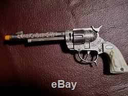 Vintage Leslie-Henry Toy Cap Gun Gene Autry 44 in Nice condition