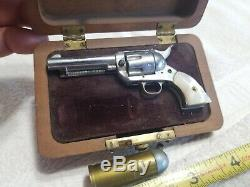 Vintage Little. 45 American Miniature Gun HOLLYWOOD CALIF. In Case #7