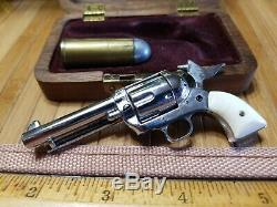 Vintage Little. 45 American Miniature Gun HOLLYWOOD CALIF. In Case #9