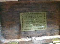 Vintage Little. 45 American Miniature Gun HOLLYWOOD CALIF. In Case #a