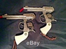 Vintage Lone Ranger Double Cap Gun and Holster set