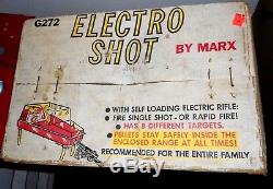 Vintage Marx Electro Shot Shooting Gallery with the Original Box and Working Gun